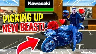 PICKING UP MY BRAND NEW 2019 KAWASAKI ZX6R ! | BRAAP VLOGS
