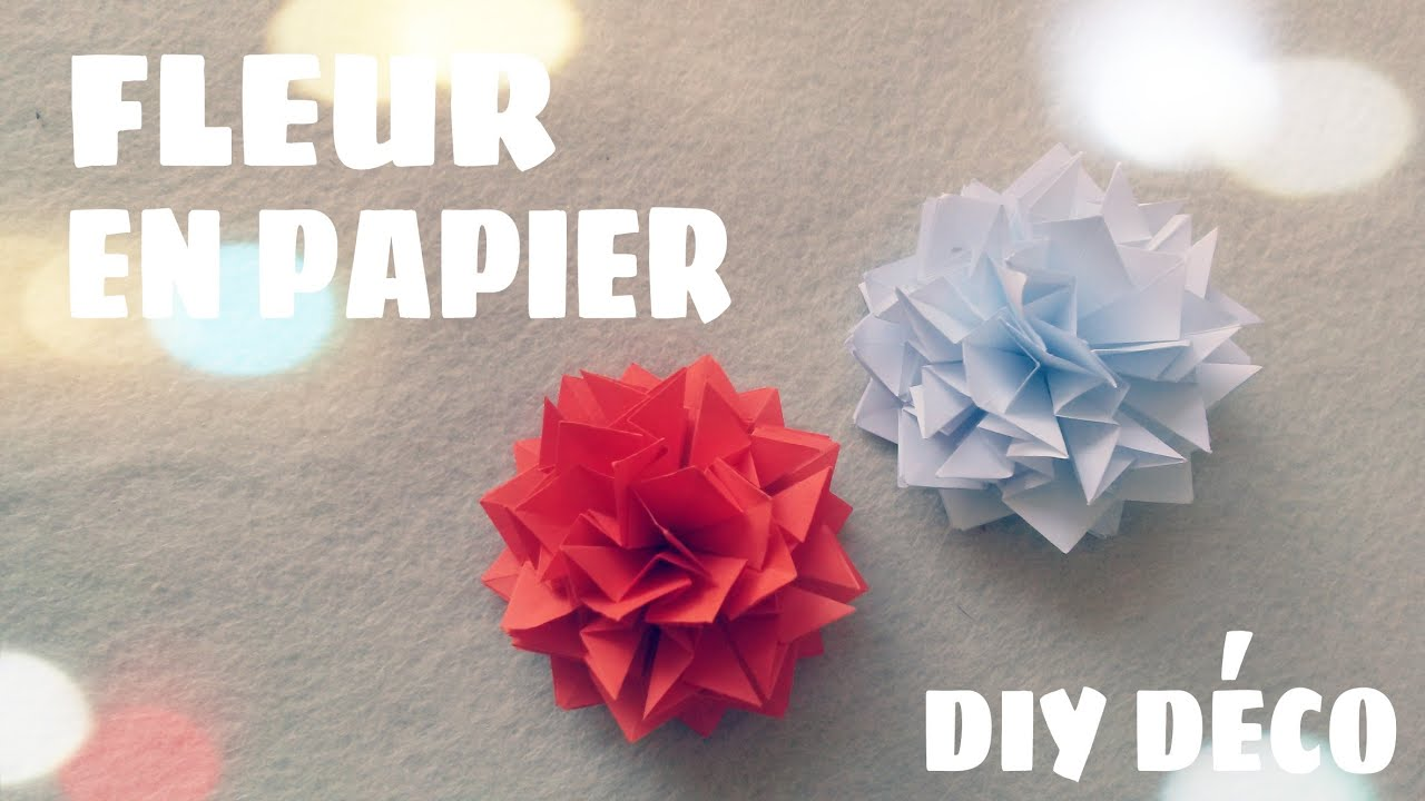 D coration murale faire une fleur en papier youtube for Deco murale youtube