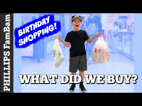 BIRTHDAY SHOPPING SPREE for ETHAN | WHAT DID WE BUY AT THE MALL? | PHILLIPS FamBam Vlogs