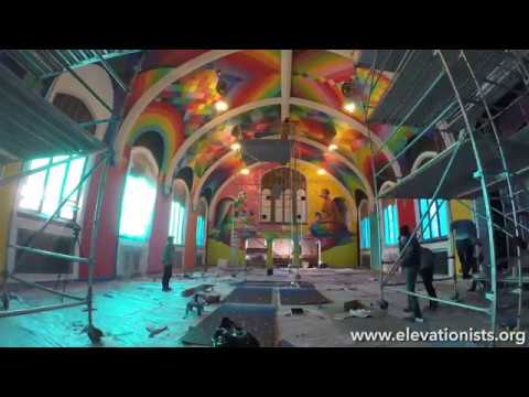 International Church of Cannabis Chapel Ceiling by Okuda San Miguel Timelapse