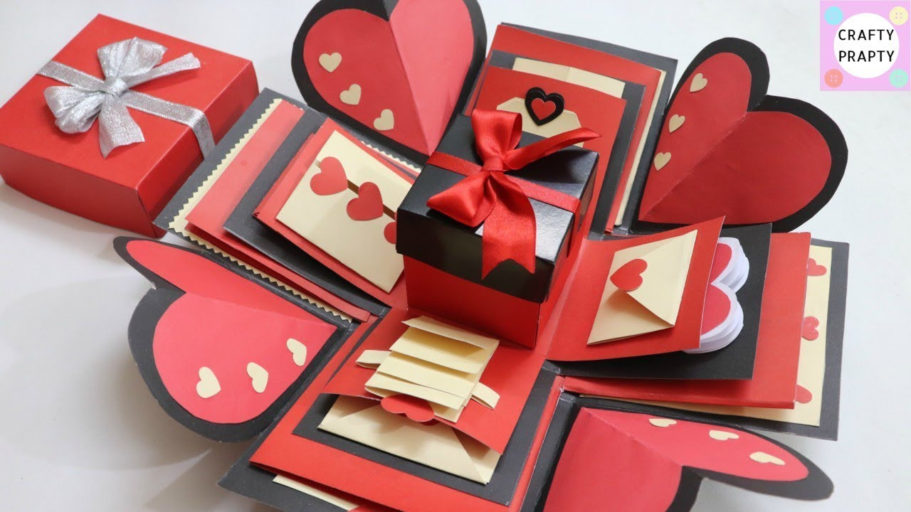 How To Make Explosion Box Diy Valentine S Day Explosion Box