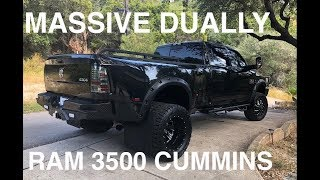 2016 Ram 3500 Cummins - Custom Lifted Dually Lonestar - Full In Depth 4K Review - THIS THING IS HUGE