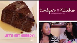 Hennessy Glaze Brown Sugar Ginger Cake & Pudgies On Let's Get Greedy! #32 Food Review