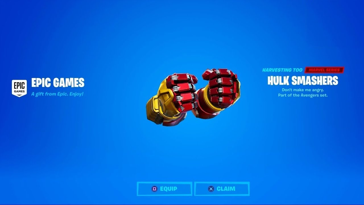 HOW TO GET HULK SMASHERS PICKAXE FOR FREE IN FORTNITE!