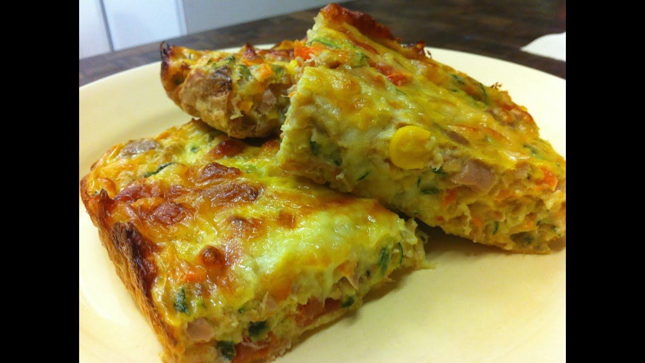 Receta delicioso pastel de verduras la cocinadera youtube - Verduras rellenas al horno ...