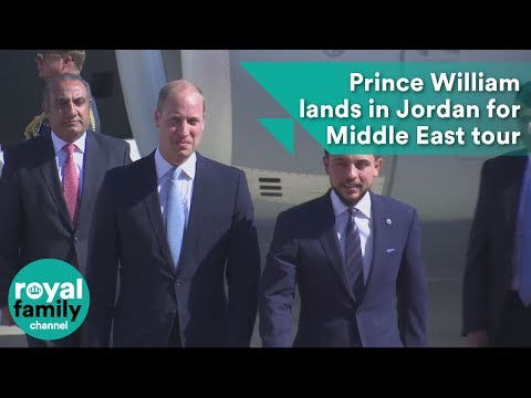 Prince William lands in Jordan for historic Middle East tour