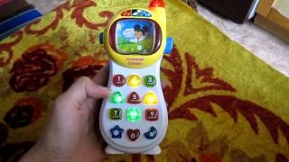 Обзор детская игрушка Joy Toy - Розумний Умный телефон, Кмітлива мобілочка УКРАИНА (kidtoy.in.ua)(Joy Toy Умный телефон УКР, 7 функций, муз, свет, на батарейке, в коробке Длина: 29.0 см. Ширина: 13.0 см. Высота: 5.0 см...., 2014-11-26T20:07:55.000Z)