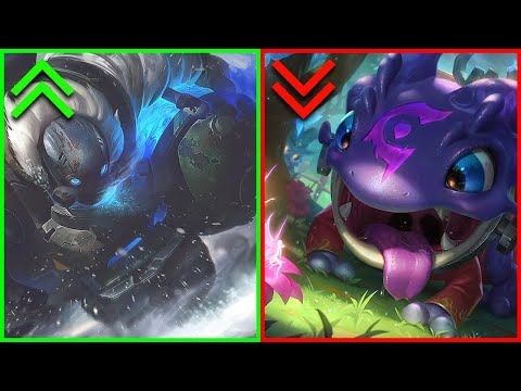 10 Skins That Buff Your Champ and 10 That Nerf Them | Pay To Win and Pay To Lose Skins In League