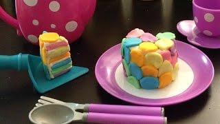 Playdoh☆rainbow Cake☆yummy☆ねんど☆虹色ケーキ
