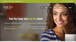 Wellness coach wordpress theme review for healthy lifestyles 2020