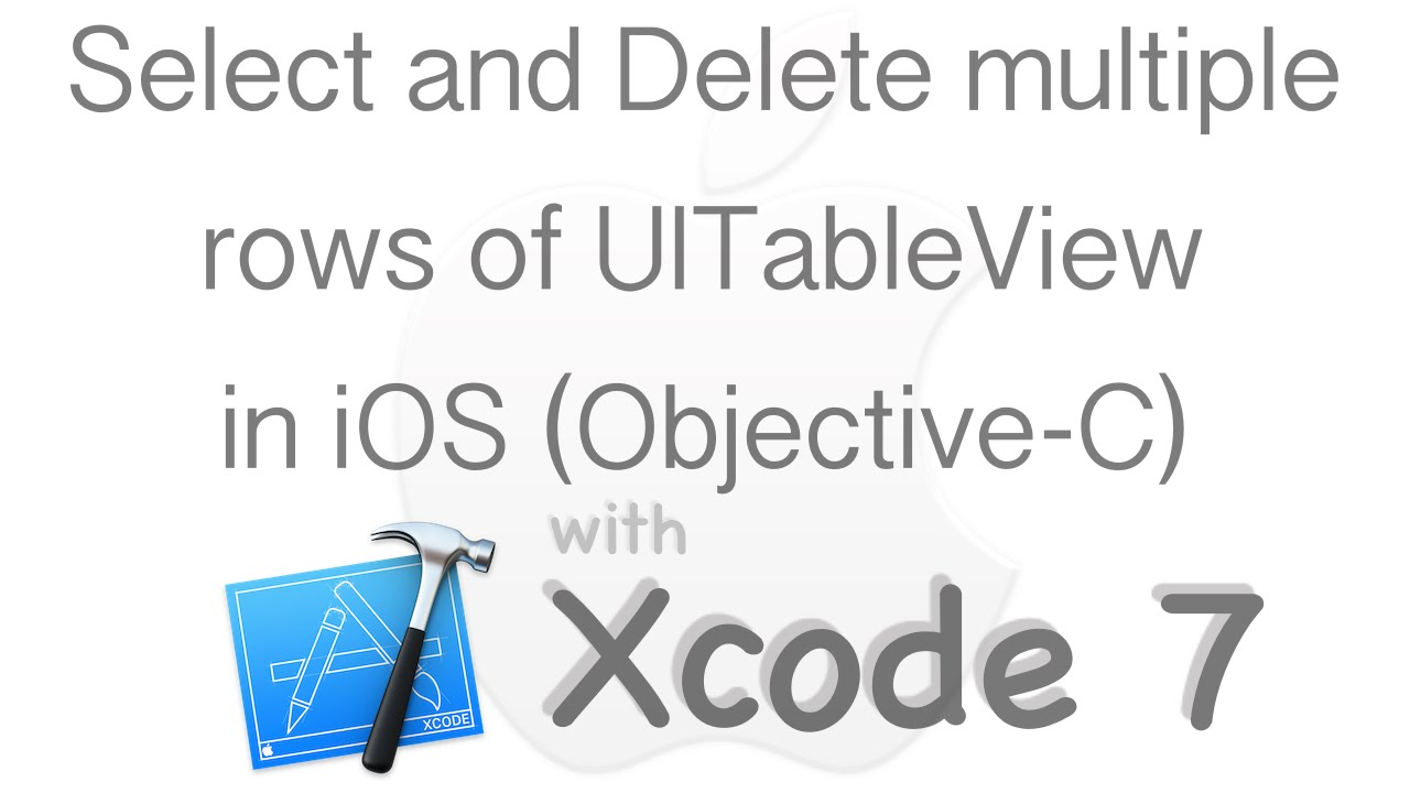 Select and delete multiple rows from table uitableview select and delete multiple rows from table uitableview objective c gamestrikefo Image collections
