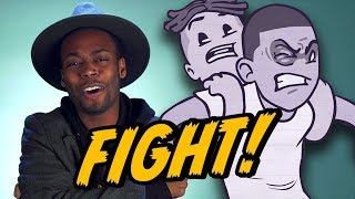 SUBSCRIBE! ▻▻ http://youtube.com/smoshpit Keith tells the story about the first time he got into a crazy fight at a party! Animation by Andrei Terbea ...