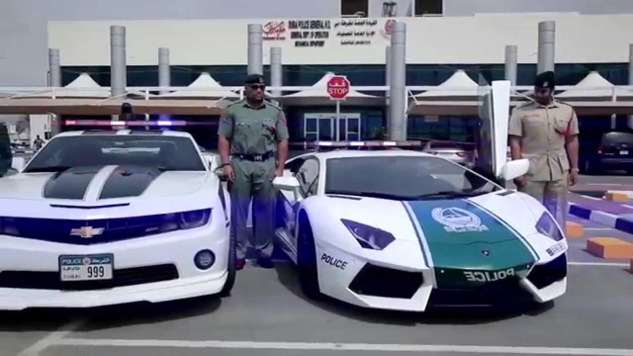 дубай полицейские машины видео