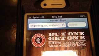 Chipotle Bogo Free Coupon(Chipotle Bogo Free Mobile Coupon., 2013-10-04T00:35:27.000Z)