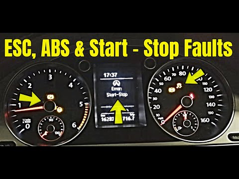 Volkswagen With Multiple Faults, ABS ESC Start Stop, Electronic Park Brake, Power Steering