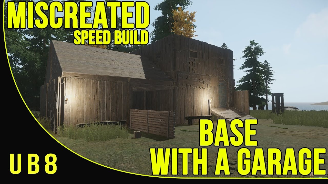 Miscreated Base Building  Speed Build  Base With Garage 2  YouTube