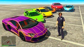 STEALING LUXURY Cars as FAKE COP in GTA 5 RP