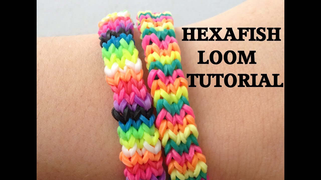 HEXAFISH (FLEXAFISH) Loom Bracelet Tutorial Rainbow Loom l ...
