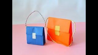 Как сделать сумочку из бумаги.Оригами. Origami bolsos de papel.Paper Handbag.
