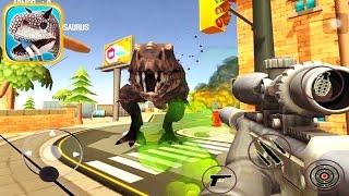 dinosaur hunter dino city 2017 kill 6 tyrannosaurus with sniper weapon ios gameplay  newbie gaming