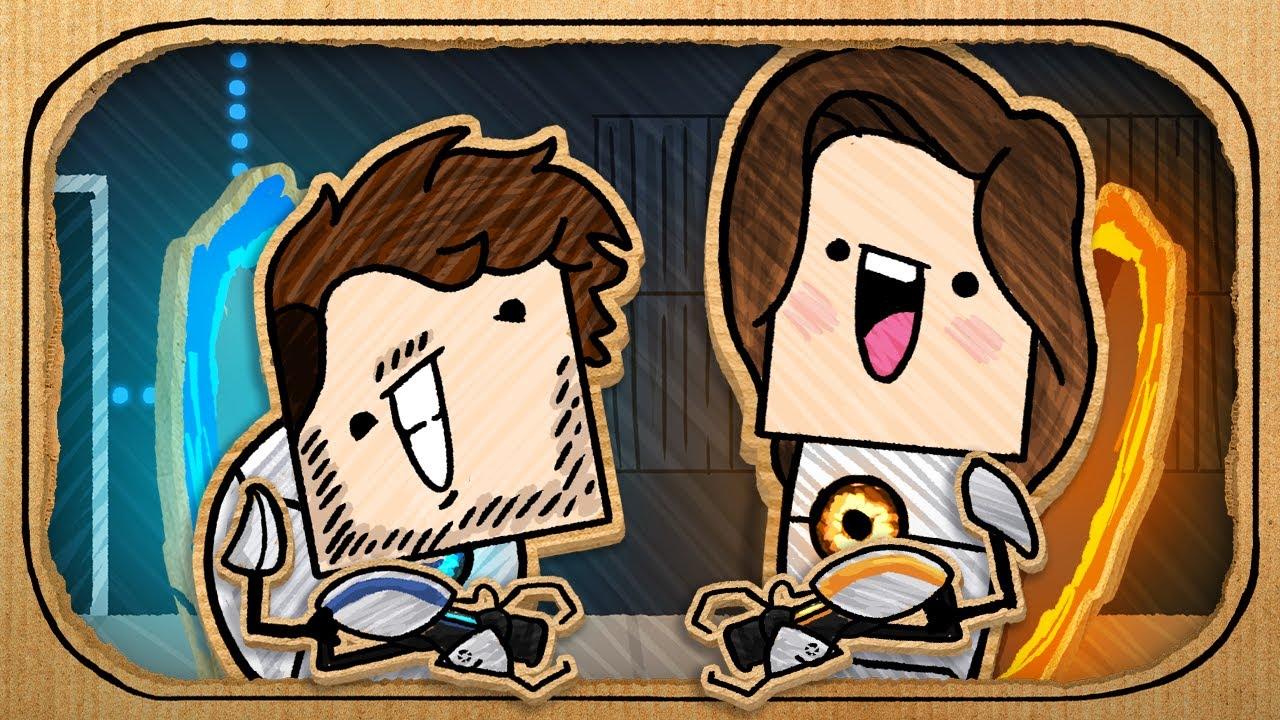 JackSepticEye & Gab Smolders (Portal 2 Co-op Parody) - Jacksepticeye Animated