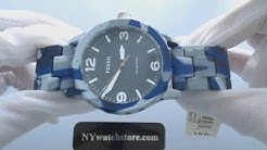 Men's Fossil Nate Blue Camouflage Watch JR1463