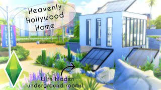 HEAVENLY HOLLYWOOD HOME w/ Hidden Underground Rooms! | The Sims 4 | Speed Build [No CC]