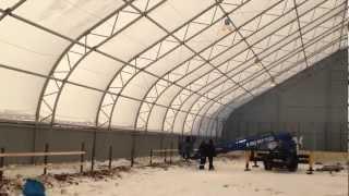 Строительство крытого хоккейного корта Новосибирск(Крытый хоккейный корт от производителя Алтай-Тент в Новосибирске. Быстровозводимые спортивные сооружения..., 2013-02-26T14:42:50.000Z)