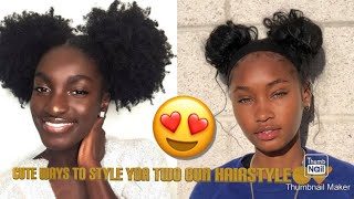 Cute ways to style your two bun hairstyle💕😍