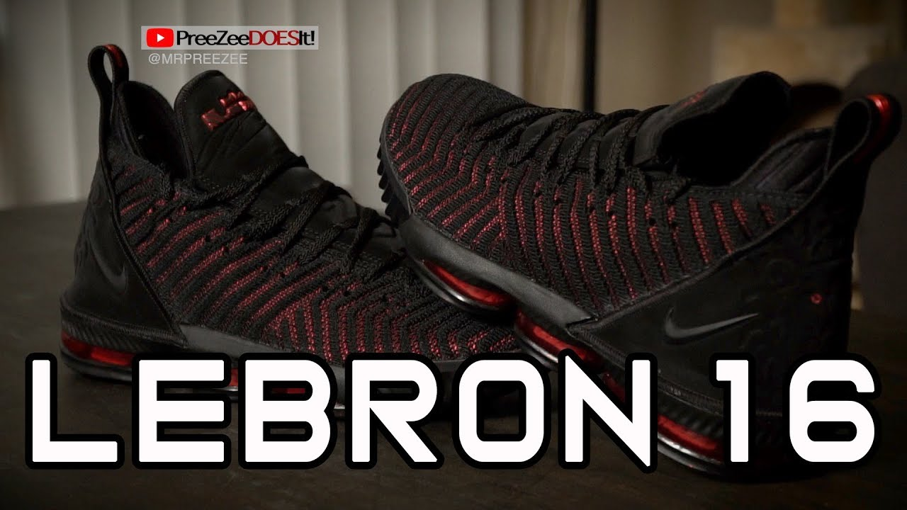 ad19a41fa33d Nike Lebron 16 (Black University Red) - YouTube