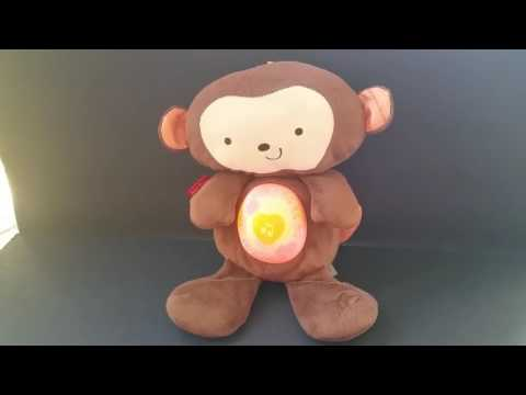 Fisher Price Monkey SnugaMonkey Sleepy Time Plush Lights Music Crib Toy