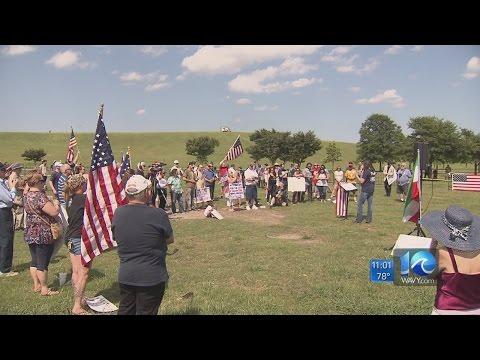 Dozens gather in Virginia Beach for demonstration against Islamic law