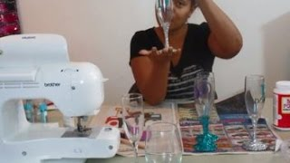 How to Decorate a Champagne Glass!
