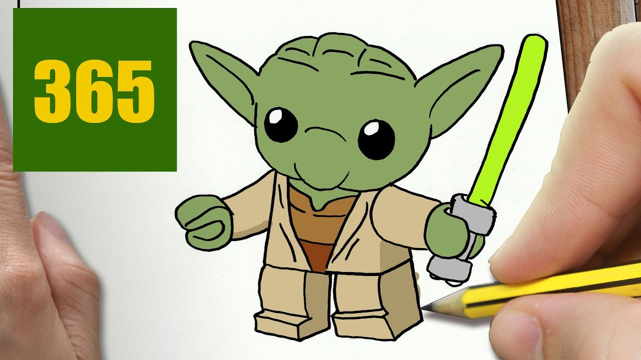 How To Draw A Yoda Cute Easy Step By Step Drawing Lessons For Kids