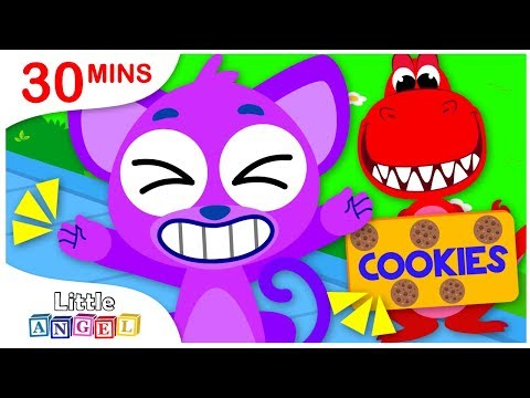 Rig a Jig Jig, I Want To Be BIG, Sharks vs. Dinosaurs   Nursery Rhymes & Kids Songs by Little Angel