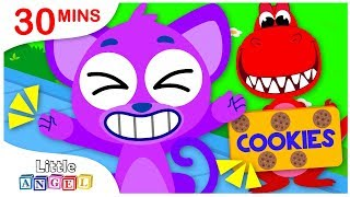 Rig a Jig Jig, I Want To Be BIG, Sharks vs. Dinosaurs | Nursery Rhymes & Kids Songs by Little Angel