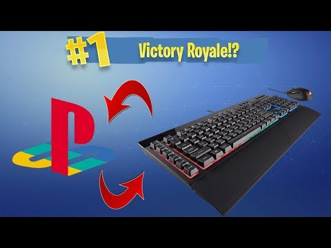 Using Keyboard & Mouse on CONSOLE!! | PS4 Fortnite Battle Royale | PT 2