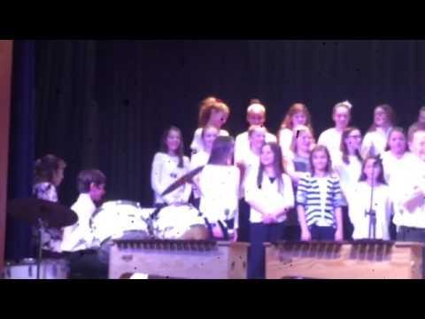 Richboro Elementary school Rock choir featuring drum