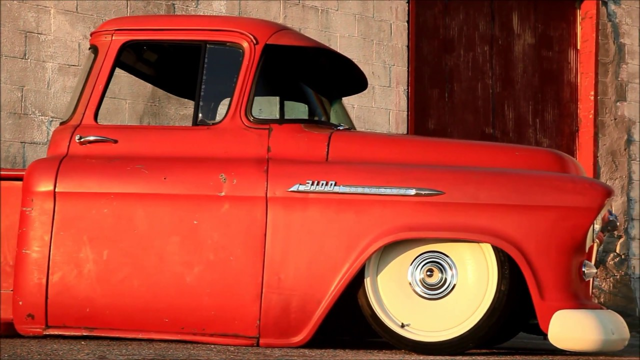 Truck 56 chevy truck : CHERRY-DIPPED