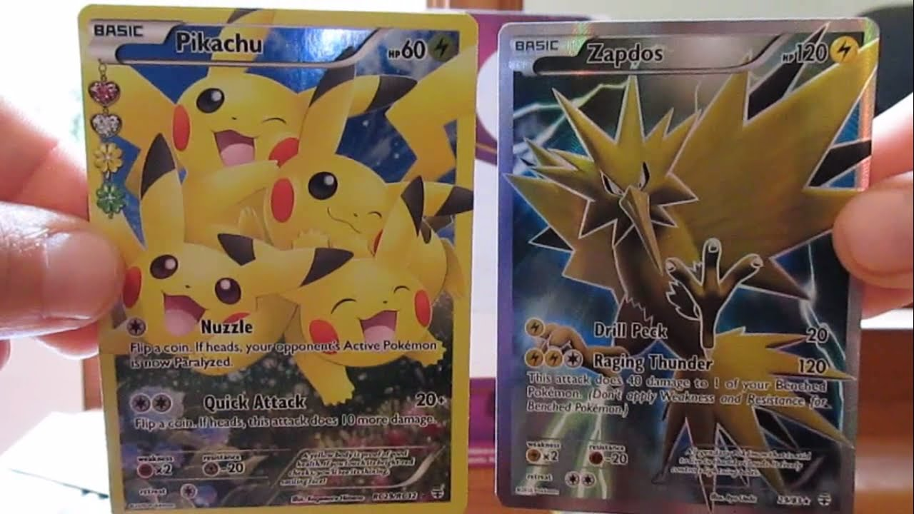Pokemon Generations: 2 Boosters Zapdos + Pikachu Full Art In 1 Pack