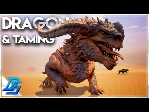 Taming Hyenas and Emus , Dragon Boss Fight  Conan Exiles  Part 20