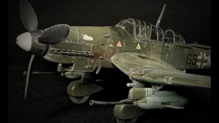 "FULL BUILD - Academy JU-87G-1 Stuka ""Tank Buster"" 1:72 Scale Model Aircraft"