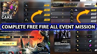 How to complete free fire new event missions || How to complete free fire all events