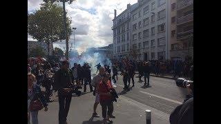 Lyon  : Des incidents dans la manifestation contre la réforme du code du travail