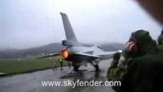 F-16 Falcon Jet Full Thrust Engine Afterburner Test.wmv