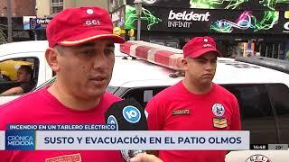 Susto y evacuación en el Patio Olmos por un incendio