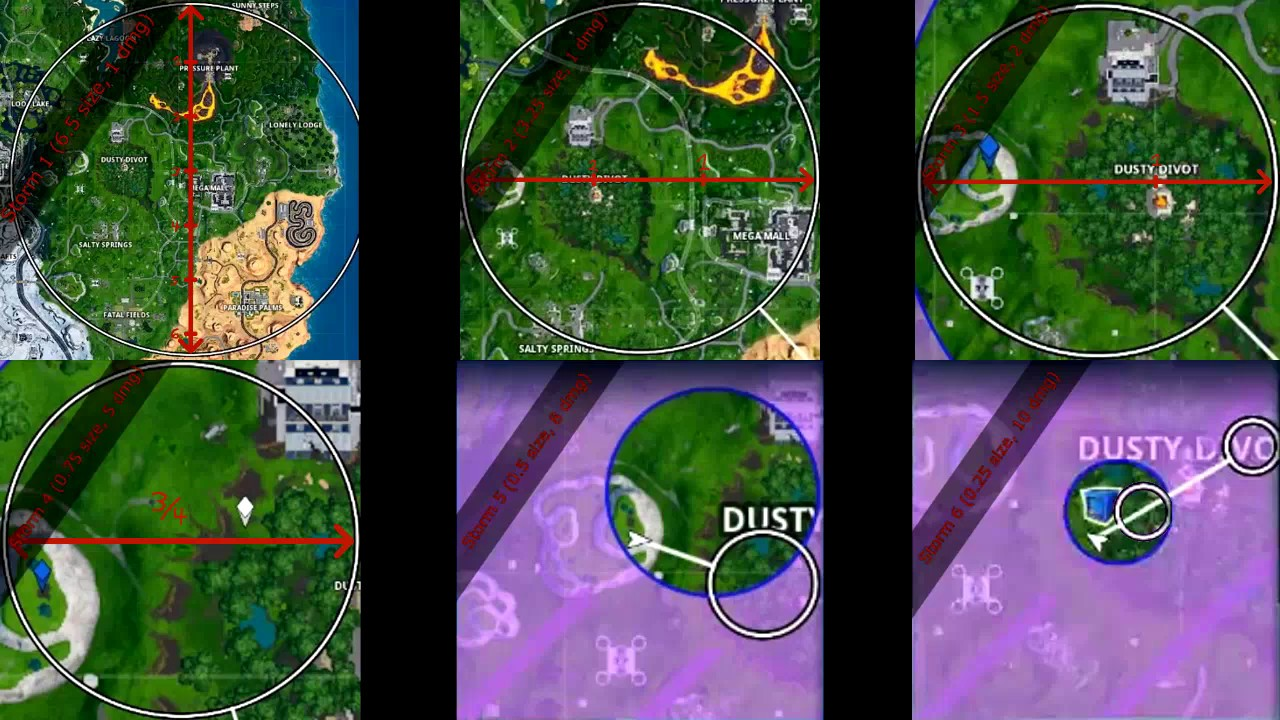 Storm Circle Fortnite Know Which Storm You Re In Fortnite Storm Size Tutorial Youtube