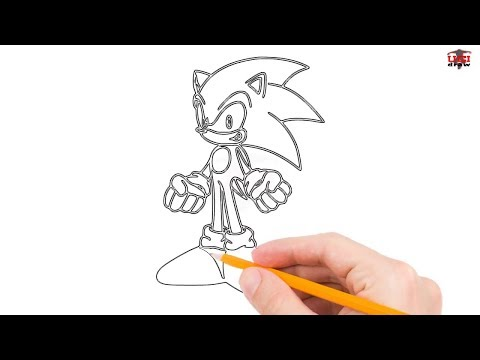 How to Draw Sonic the Hedgehog Step by Step Easy for Beginners – Simple Sonic Drawing Tutorial