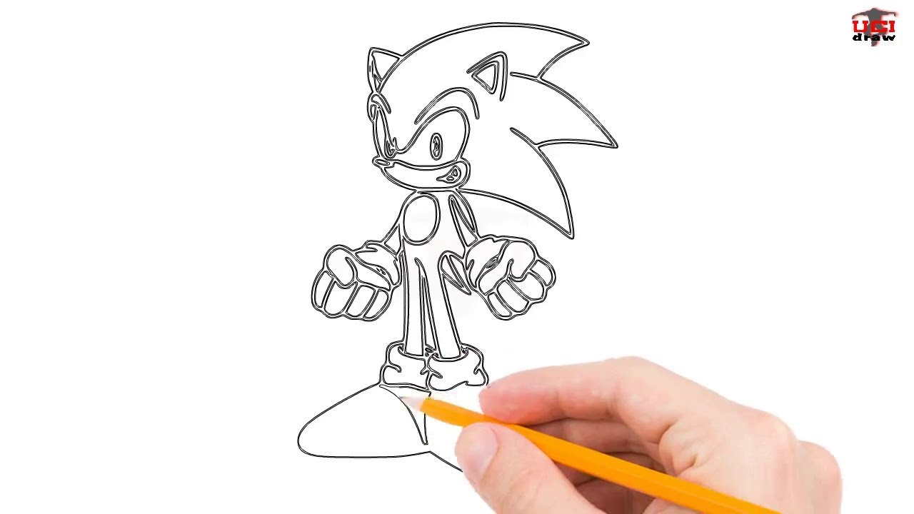 How to draw sonic the hedgehog step by step easy for beginners simple sonic drawing tutorial