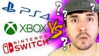 QUAL VOCÊ DEVE COMPRAR? PS4 Slim, Xbox One S e Switch (Comparação)